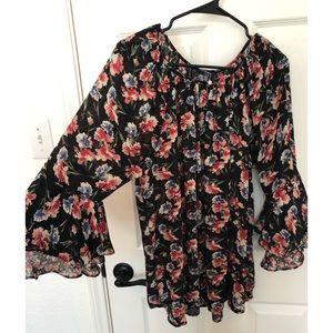 Chaps Floral Blouse/Shirt